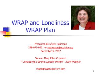 WRAP and Loneliness WRAP Plan