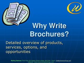 Why Write Brochures?