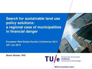 European Real Estate Society Conference 2014 26 th  Jun 2014