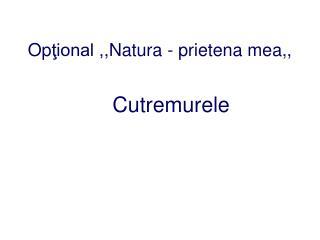 Op ţional , ,Natura  -  prietena mea ,,