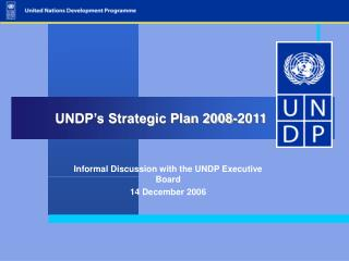 UNDP's Strategic Plan 2008-2011