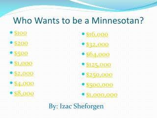 Who Wants to be a Minnesotan?