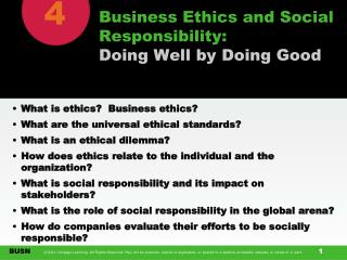 Business Ethics and Social Responsibility: Doing Well by Doing Good