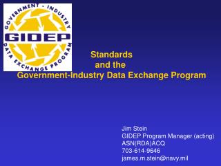 Standards and the  Government-Industry Data Exchange Program