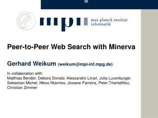 In collaboration with: Matthias Bender, Debora Donato, Alessandro Linari, Julia Luxenburger,