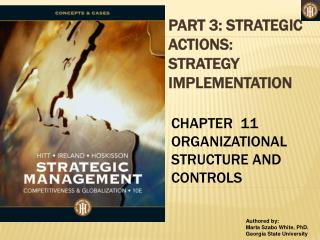 PART 3: STRATEGIC ACTIONS: STRATEGY IMPLEMENTATION