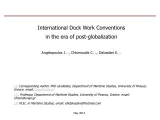 International Dock Work Conventions  in the era of post-globalization