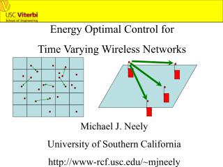 Energy Optimal Control for  Time Varying Wireless Networks