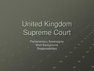 United Kingdom Supreme Court