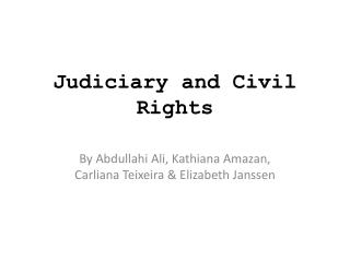 Judiciary and Civil Rights