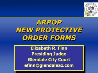 ARPOP  NEW PROTECTIVE ORDER FORMS