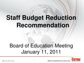 Board of Education Meeting January 11, 2011