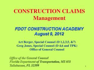 CONSTRUCTION CLAIMS Management