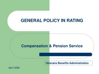 Compensation & Pension Service