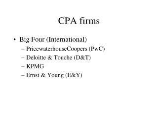 CPA firms