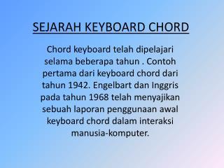 SEJARAH KEYBOARD CHORD