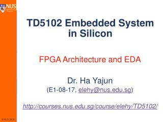 TD5102 Embedded System in Silicon