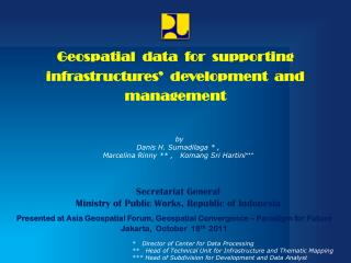 Secretariat  General  Ministry of Public Works , Republic of Indonesia