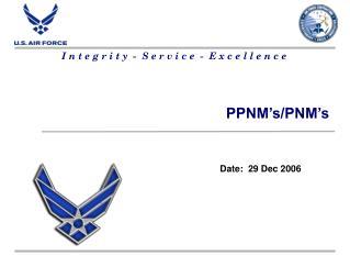 PPNM's/PNM's