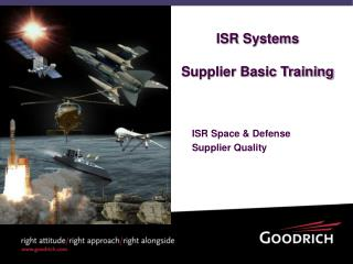 ISR Systems Supplier Basic Training