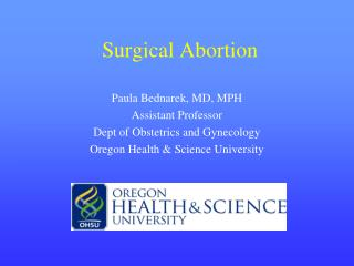 Surgical Abortion