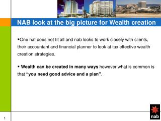 NAB look at the big picture for Wealth creation