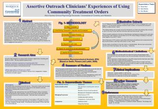 Assertive Outreach Clinicians' Experiences of Using Community Treatment Orders