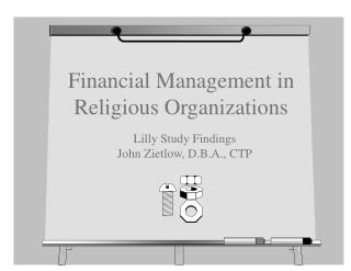 Financial Management in Religious Organizations