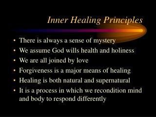 Inner Healing Principles