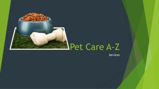 Pet Care A-Z
