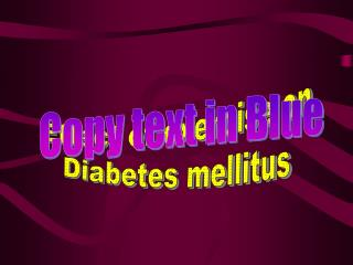 Effect of exercise on Diabetes mellitus