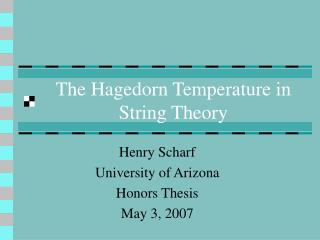 The Hagedorn Temperature in String Theory