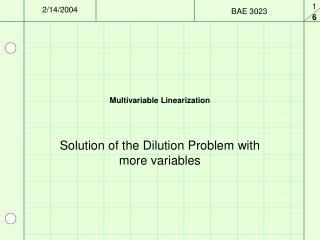 Multivariable Linearization