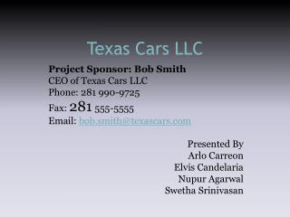 Texas  Cars LLC