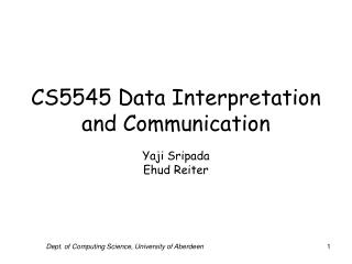 CS5545 Data Interpretation and Communication