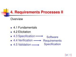 4. Requirements Processes II