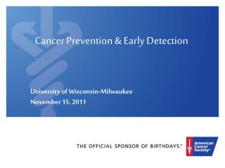 Cancer Prevention & Early Detection