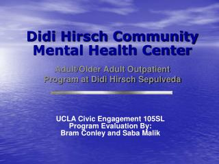Didi Hirsch Community  Mental Health Center