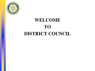 WELCOME  TO  DISTRICT COUNCIL