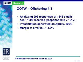 QOTW – Offshoring # 3