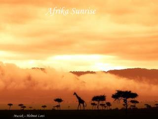 Afrika Sunrise