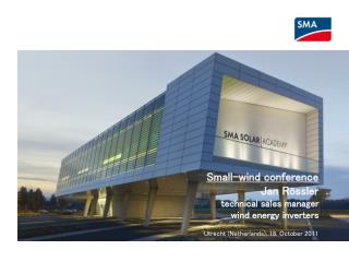 Small-wind  conference Jan Rössler technical sales manager wind  energy inverters