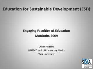 Education for Sustainable Development ESD