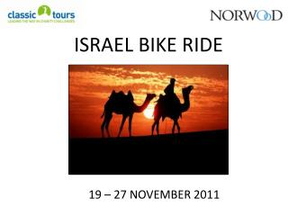 ISRAEL BIKE RIDE