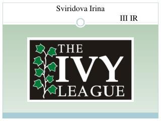 Sviridova Irina  III IR