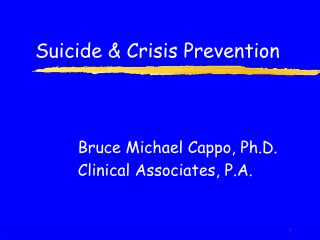 Suicide & Crisis Prevention