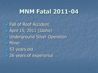 MNM Fatal 2011-04