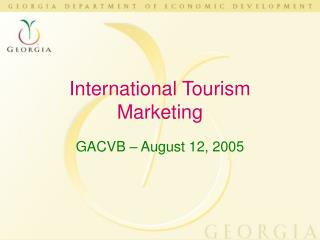 International Tourism Marketing
