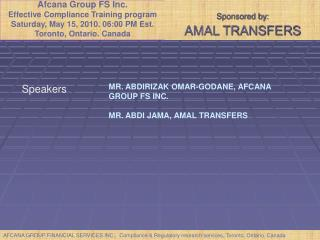 Sponsored by:  AMAL TRANSFERS