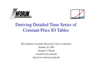 Deriving Detailed Time Series of Constant Price IO Tables
